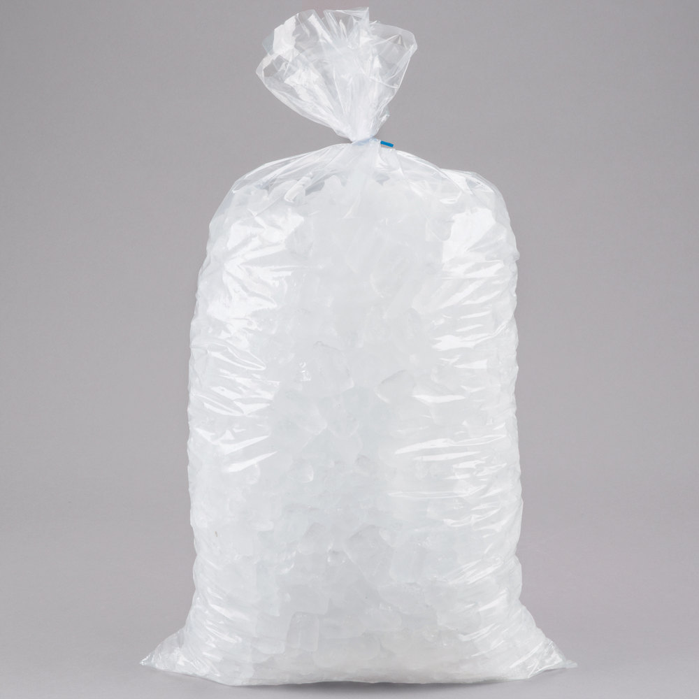 20 Lb Clear Plastic Ice Bag 500 Bundle