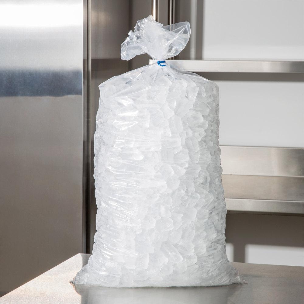 20 Lb Clear Plastic Ice Bag 500 Bundle