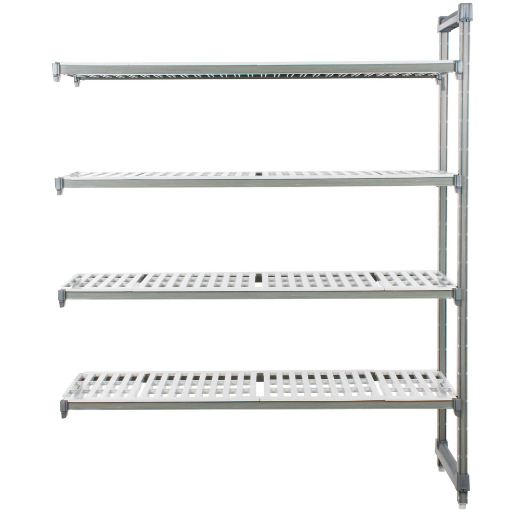 "Cambro EA215484V4580 Camshelving Elements 4 Shelf Vented Add On Unit - 21"" x 54"" x 84"""