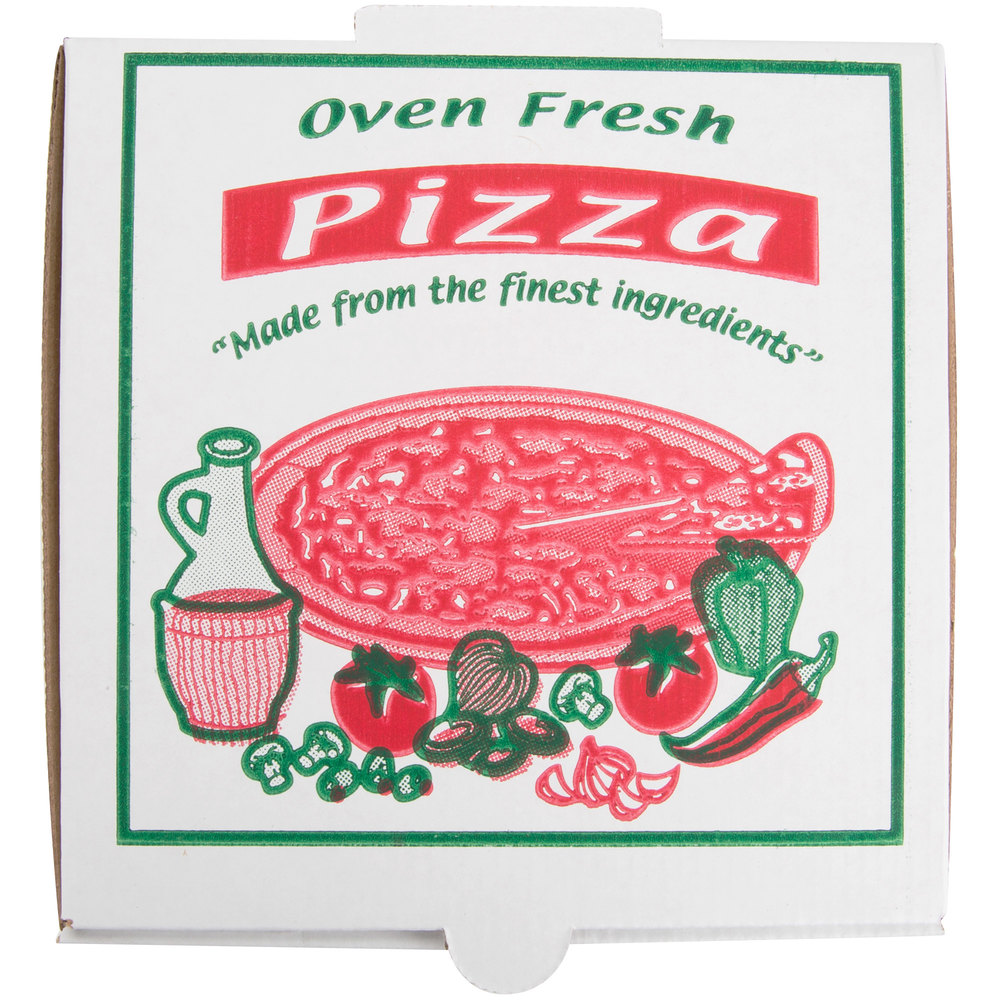 "7"" x 7"" x 1 3/4"" White Corrugated Pizza Box - 100/Case"