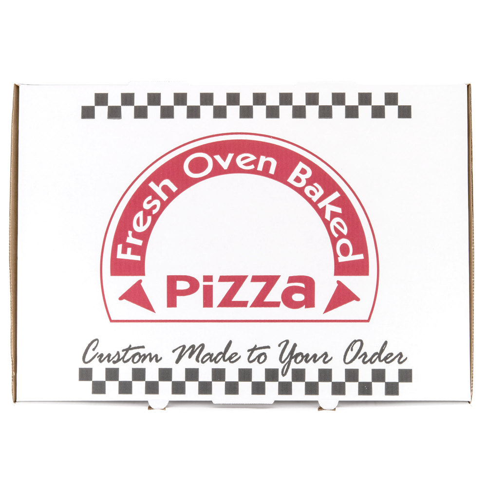 "17"" x 25"" White Corrugated Pizza Box"