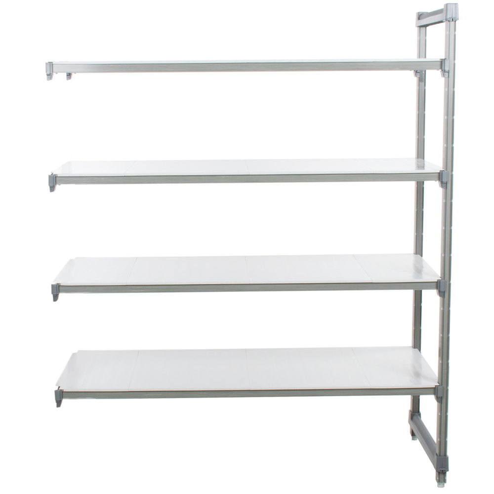 "Cambro EA243684S4580 Camshelving Elements Solid Add On Unit 24"" x 36"" x 84"" - 4 Shelf"