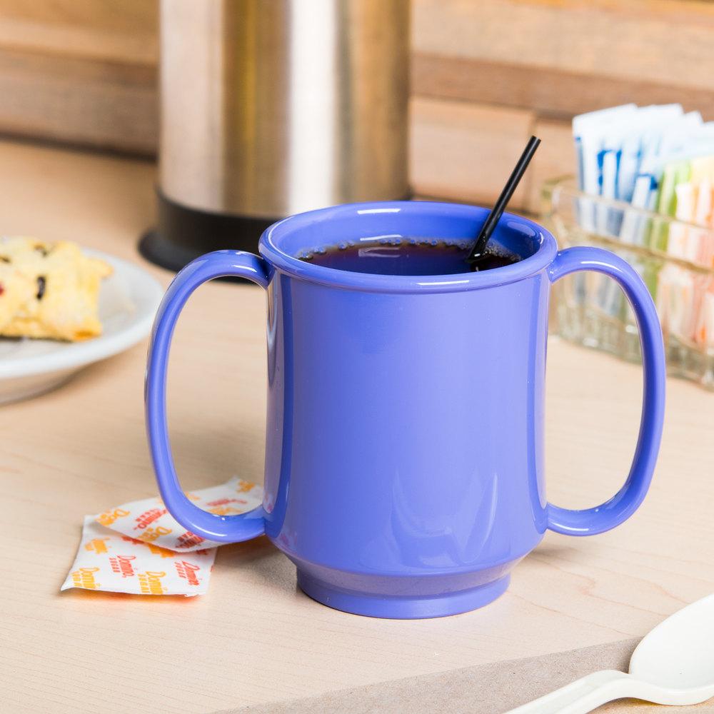 get sn 103 pb 8 oz peacock blue tritan two handle mug 24 case