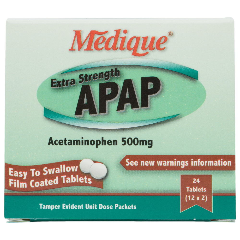 Medique 17564 Extra Strength Apap Acetaminophen Tablets