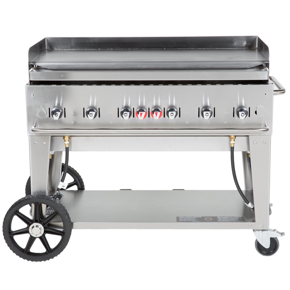 Gas Fryer With Griddle Gas ~ Crown verity mg natural gas quot portable outdoor griddle