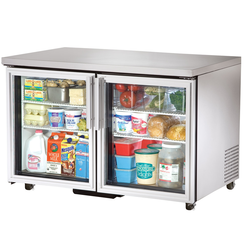 "True TUC-48G-ADA-LD 48"" ADA Height Undercounter Refrigerator with Glass Doors"
