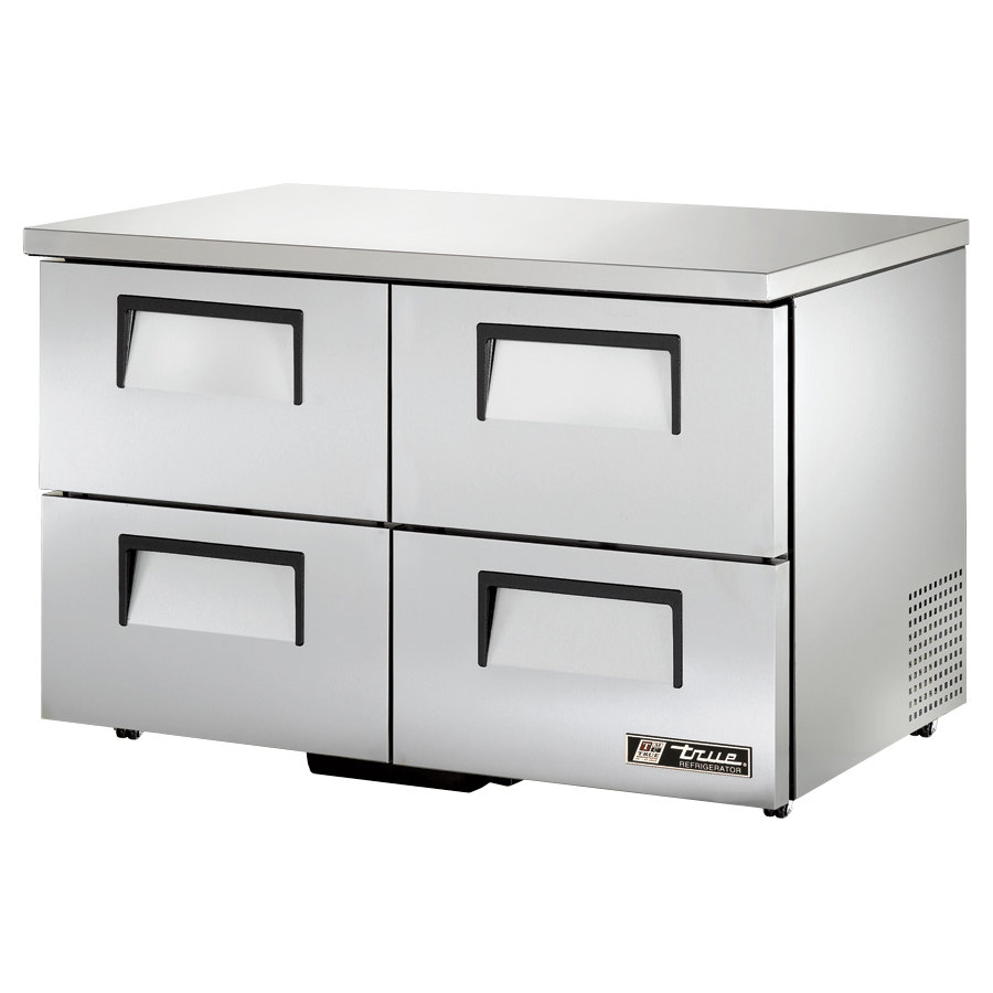 "True TUC-48D-4-LP 48"" Low Profile Undercounter Refrigerator with Four Drawers"