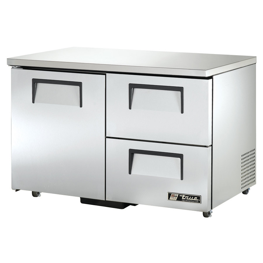 "True TUC-48D-2-ADA 48"" ADA Height Undercounter Refrigerator with One Door and Two Drawers"