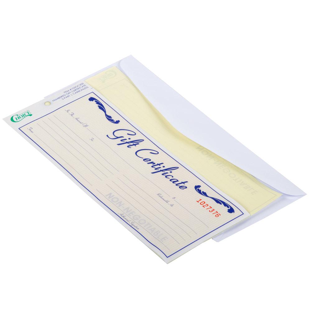 envelope certificate gift choice pack tweet