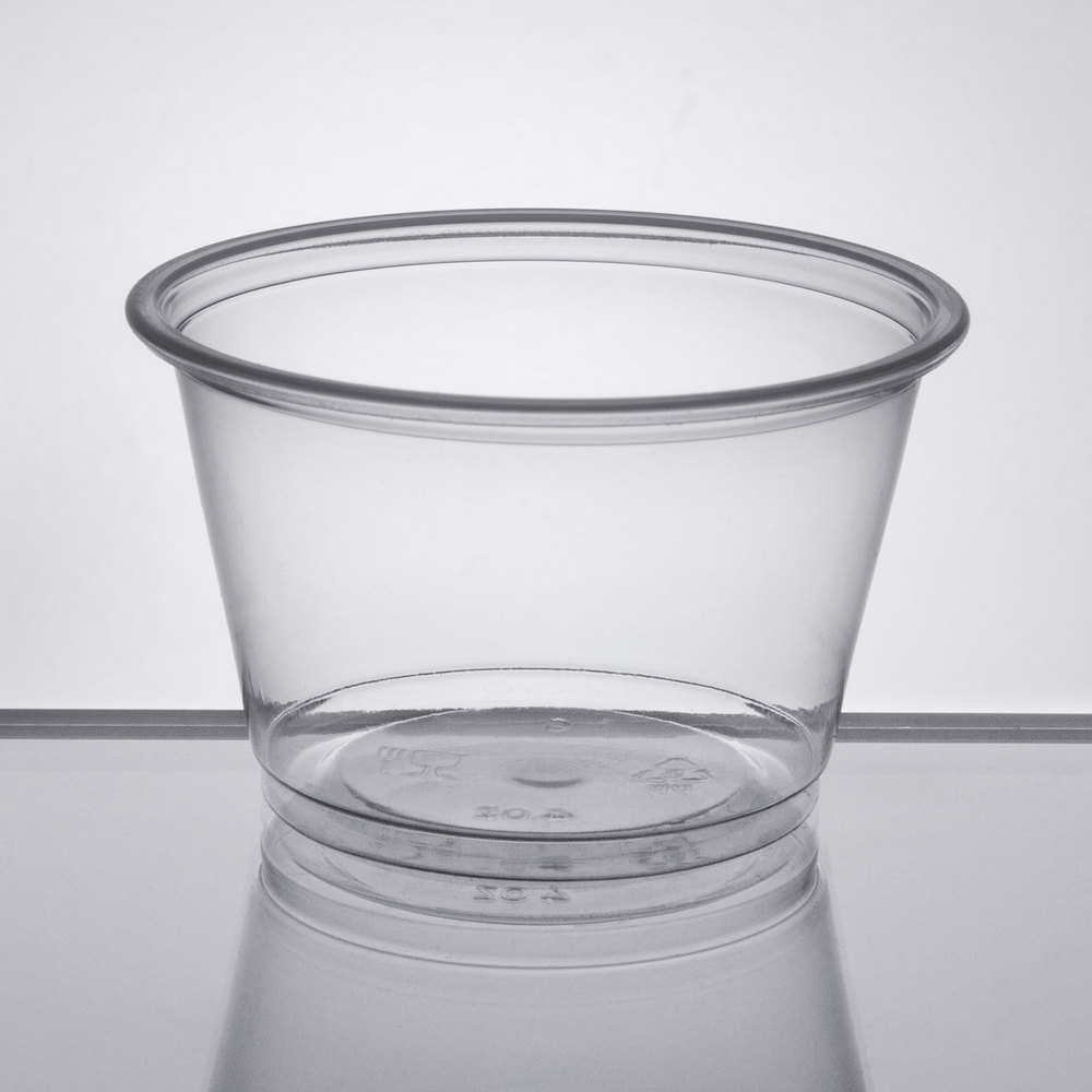 071a90f4d63 Choice 4 oz. Clear Plastic Souffle Cup / Portion Cup - 2500/Case