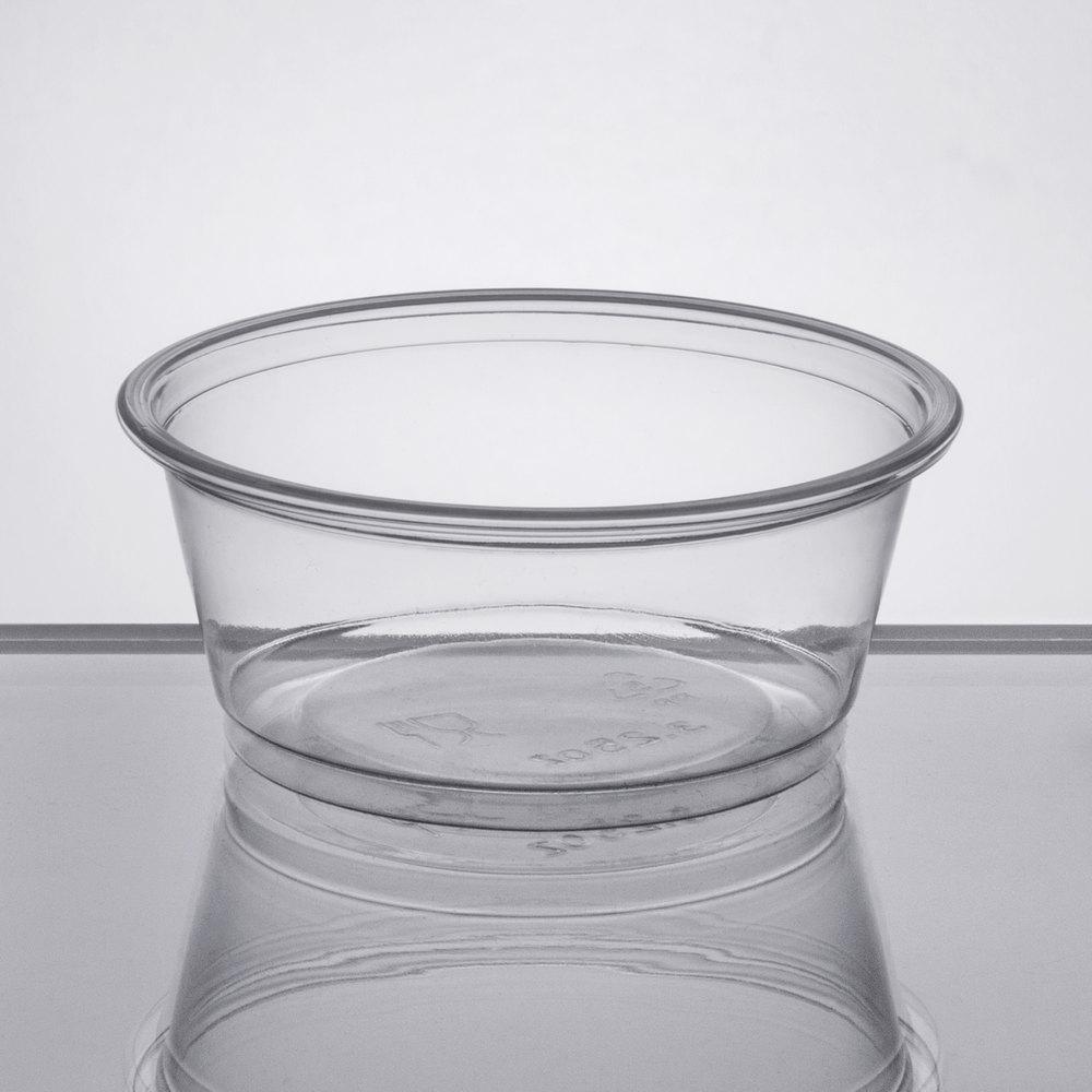 94fbc518dbf Choice 3.25 oz. Clear Plastic Souffle Cup   Portion Cup - 2500 Case