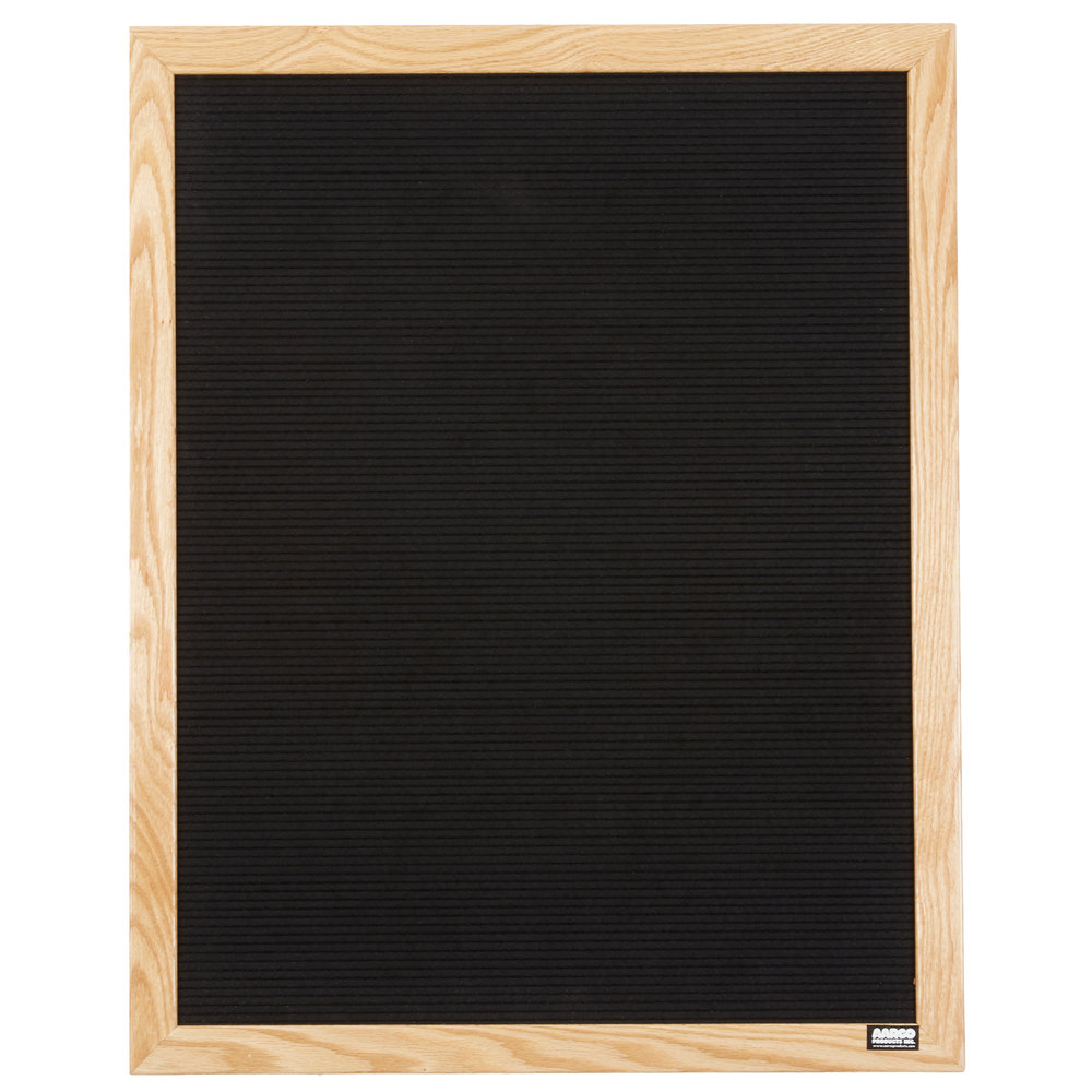 aarco 30 x 24 black felt open face vertical indoor message board with solid oak wood frame and. Black Bedroom Furniture Sets. Home Design Ideas