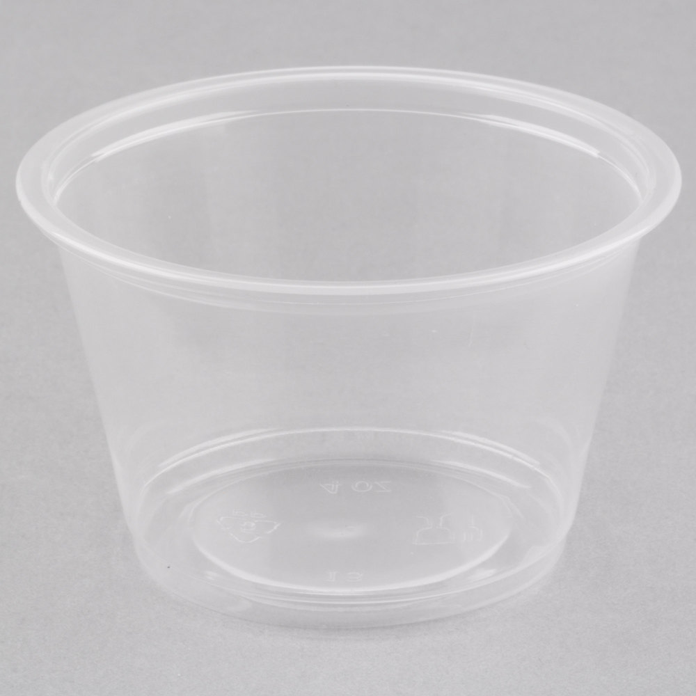 Choice 4 Oz Clear Plastic Souffle Cup Portion Cup 100