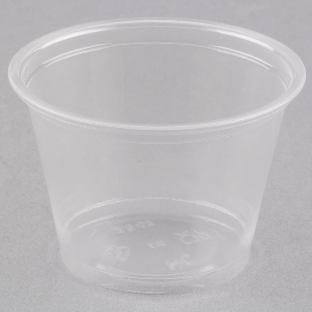 Choice 2 5 Oz Clear Plastic Souffle Cup Portion Cup