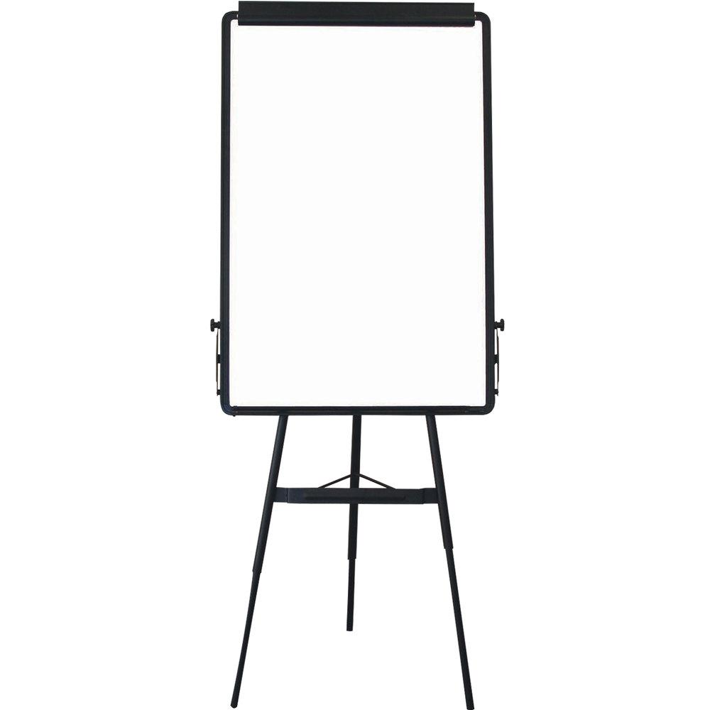 aarco te1bk black portable tripod easel with whiteboard. Black Bedroom Furniture Sets. Home Design Ideas