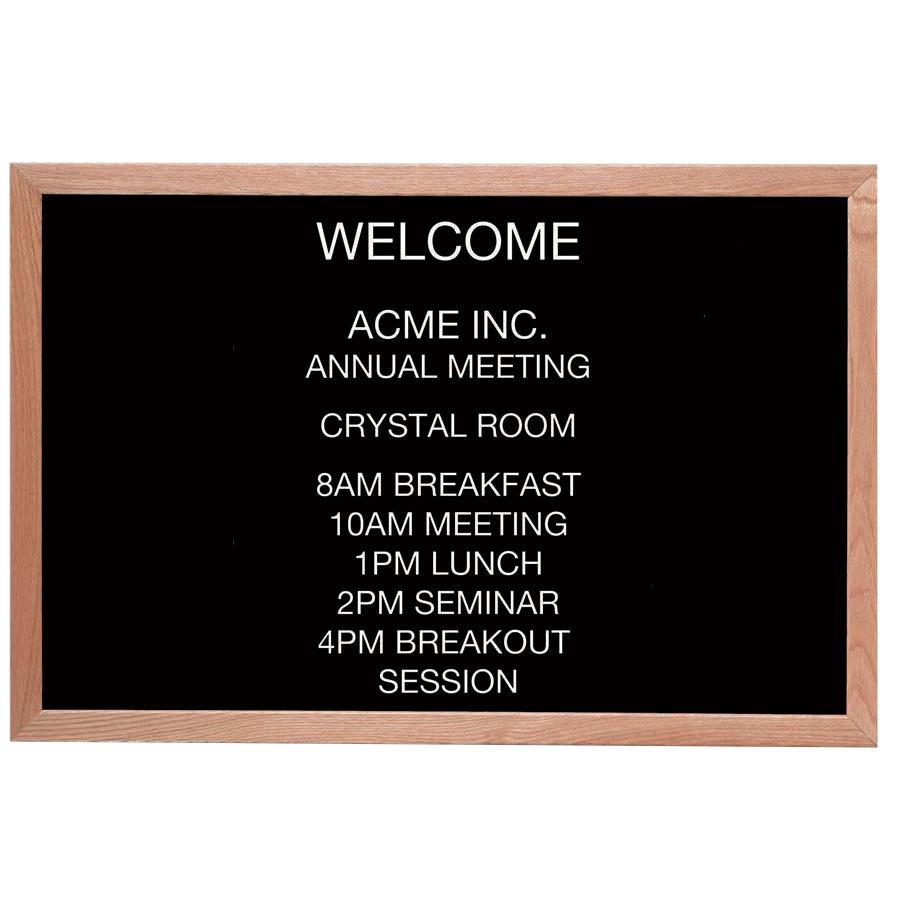 Aarco 24quot x 36quot black felt open face horizontal indoor for Giant letter board