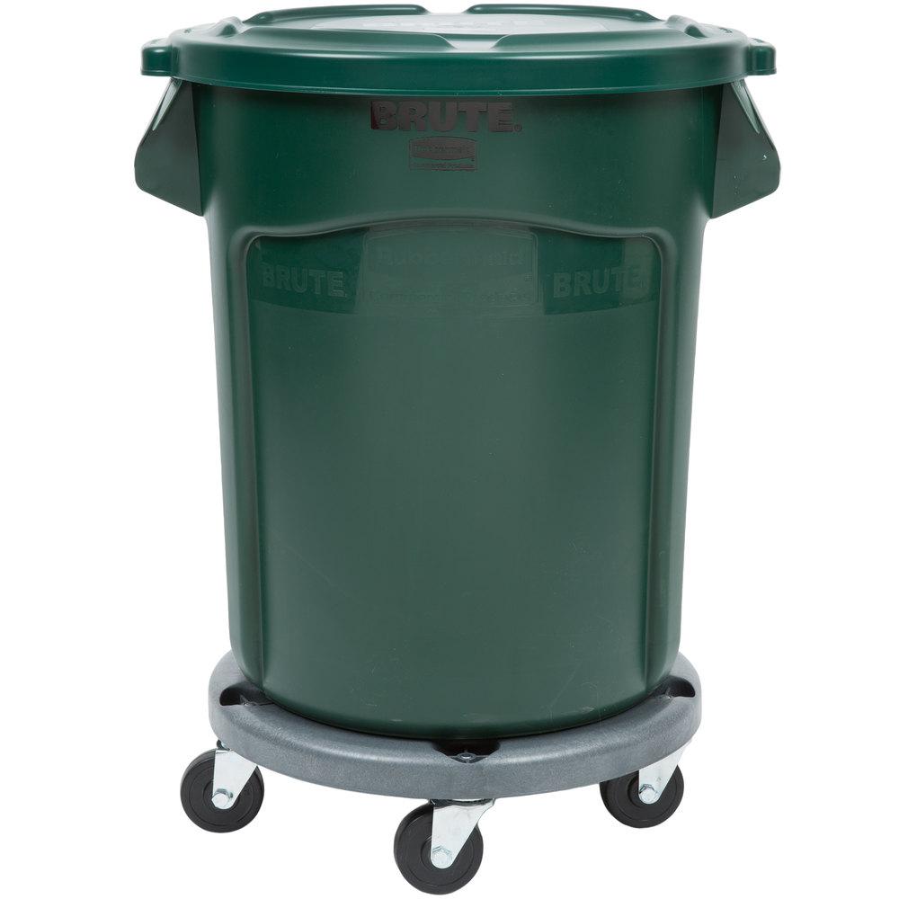 Rubbermaid Brute 20 Gallon Trash Can W Dolly
