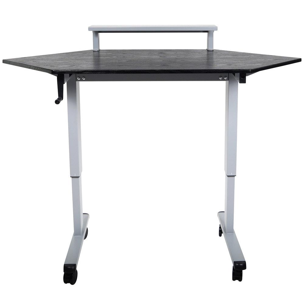 luxor h wilson standup ccf60 b stand up corner desk 60. Black Bedroom Furniture Sets. Home Design Ideas