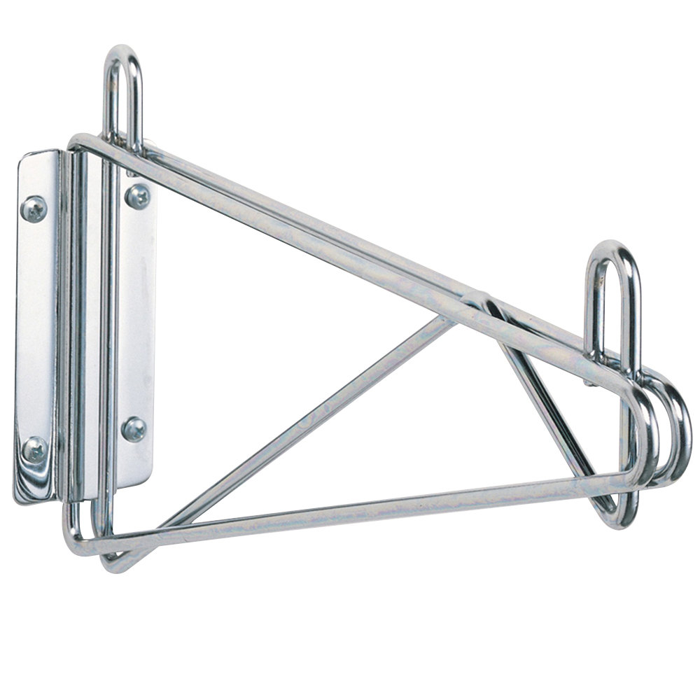 "Metro 1WD14S Super Erecta Stainless Steel Single Direct Wall Mount Bracket for 14"" Shelf"