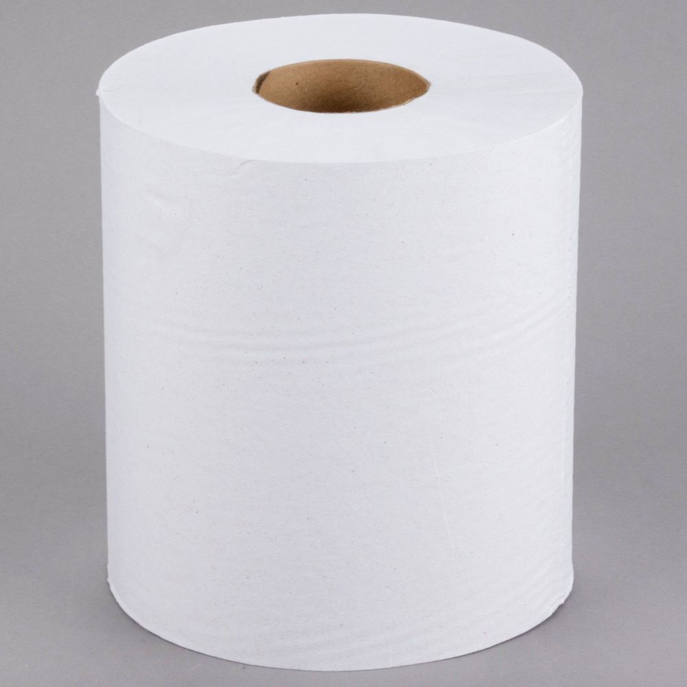 Lavex Janitorial 1-Ply White Center Pull Paper Towel 990