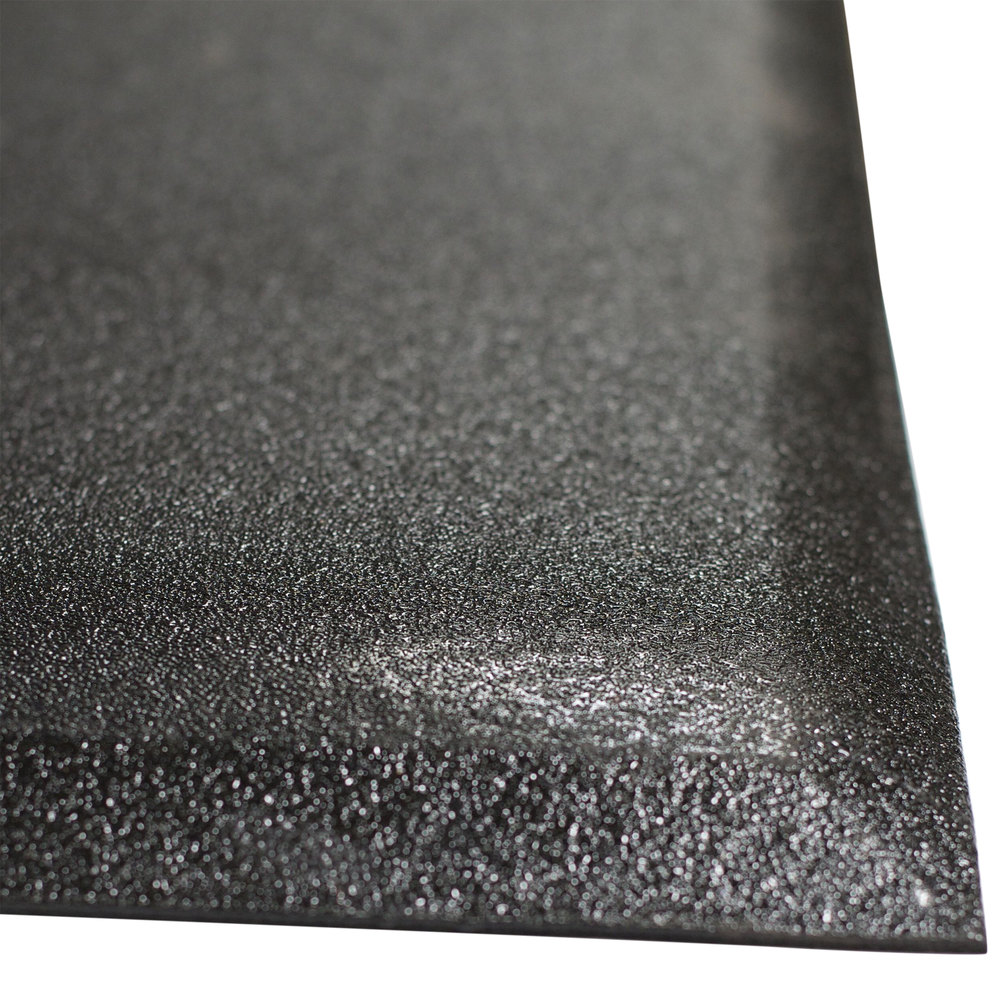 cactus mat 2300m-34 walrus hide 3' x 4' black anti-fatigue floor