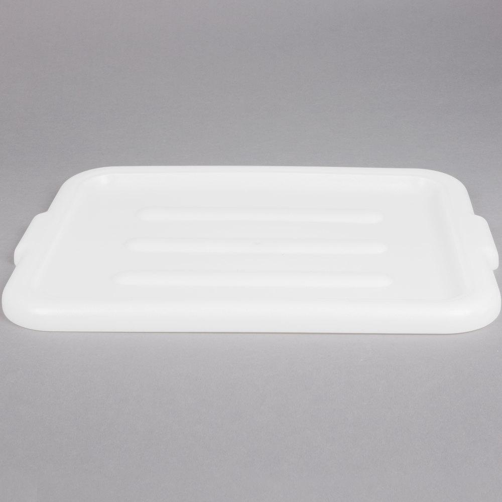 20 Quot X 15 Quot Polyethylene Plastic Bus Tub Bus Box Lid White