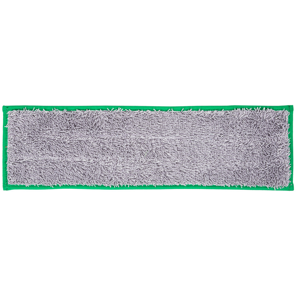 Unger DD400 SmartColor Green Dry / Damp 13.0 Mop Pad - 19 1/2""