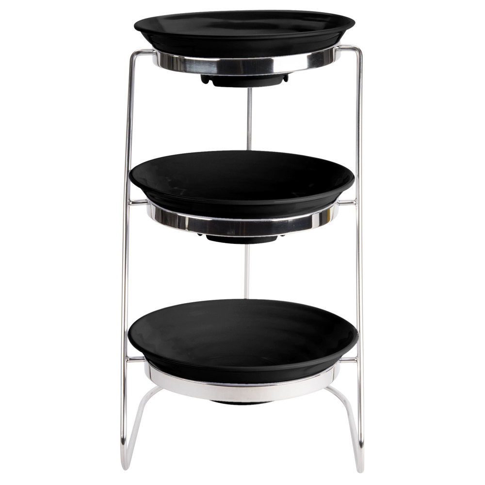 Exhibition Stand Round : Get mts ml bk set tier cascading display stand
