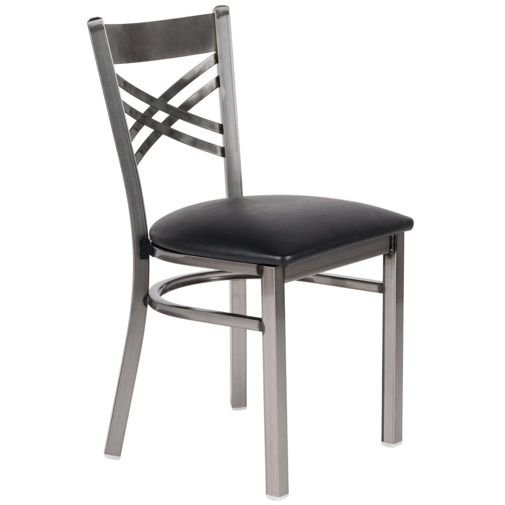 Black Restaurant Chairs -  black and white chairs