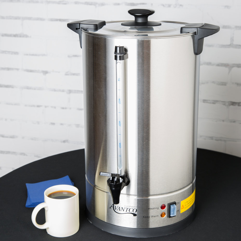 Coffee Maker Big W : Avantco CU110ETL 110 Cup Stainless Steel Coffee Urn - 1500W