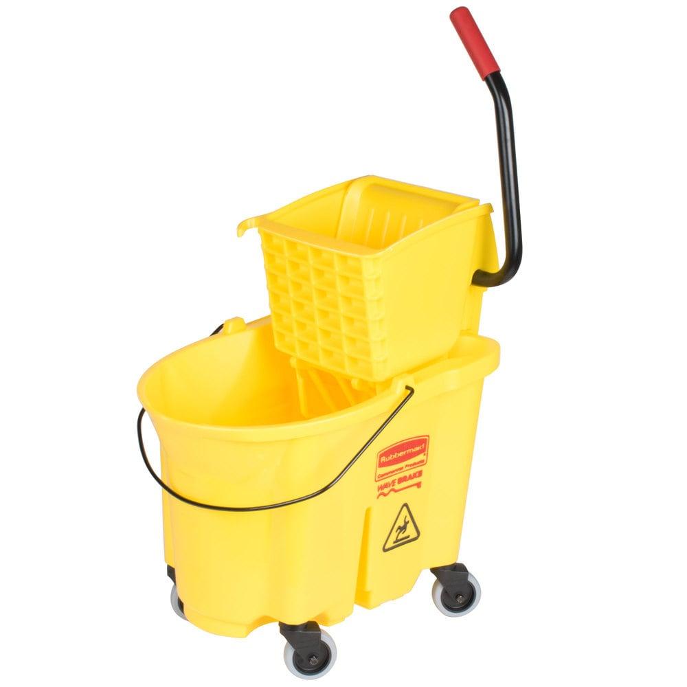 Rubbermaid Fg758088yel Wavebrake 174 35 Qt Yellow Mop Bucket