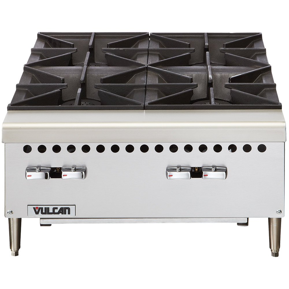 Countertop Gas Range : Vulcan VCRH24-1 Natural Gas 24