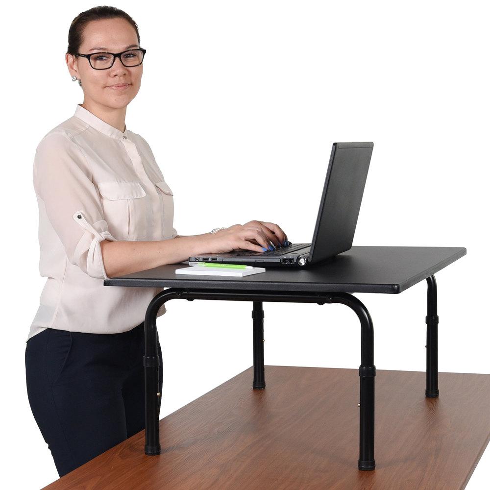 luxor stand sd32 adjustable stand up desktop desk 32. Black Bedroom Furniture Sets. Home Design Ideas