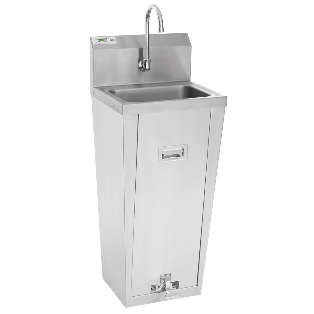 Regency Hands Free Hand Sink with Pedestal Base