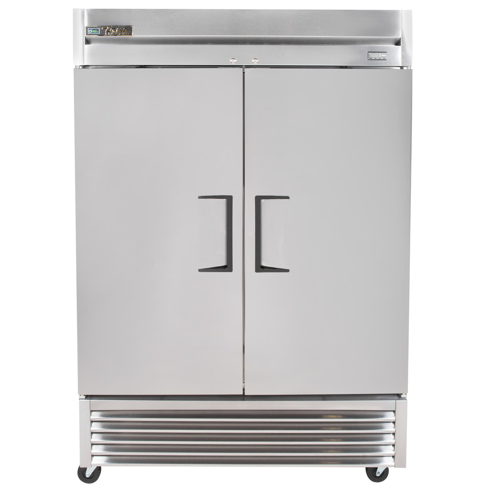 "Parts For Ge Refrigerator 2 Pcs Refrigerator Door Pin: True T-49-HC 55"" Two Section Solid Door Reach In Refrigerator"