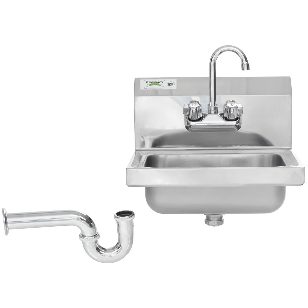 Regency 17 Quot X 15 Quot Wall Mounted Hand Sink With 8 Quot Gooseneck