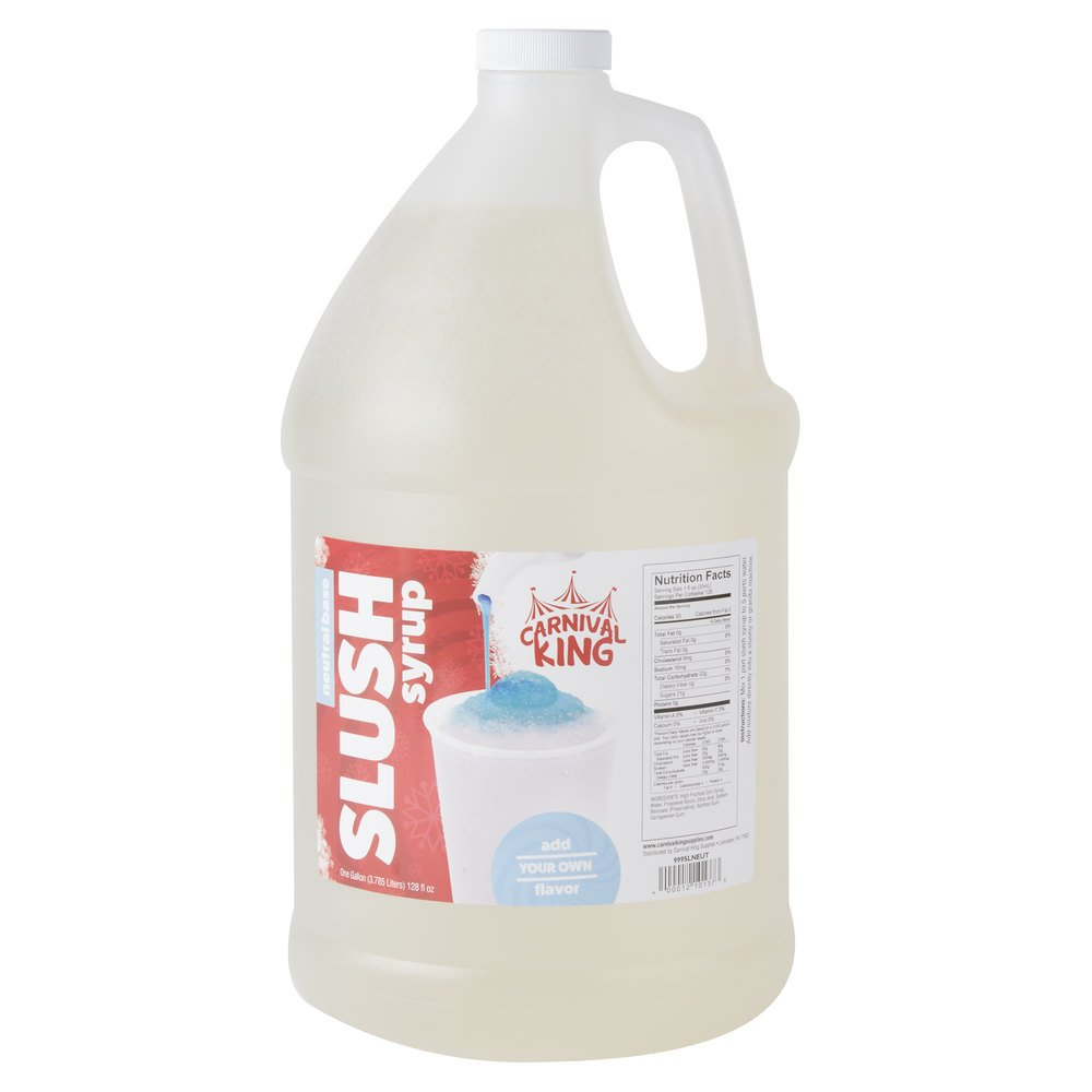 Carnival King 1 Gallon Neutral Slushy Syrup - 4/Case