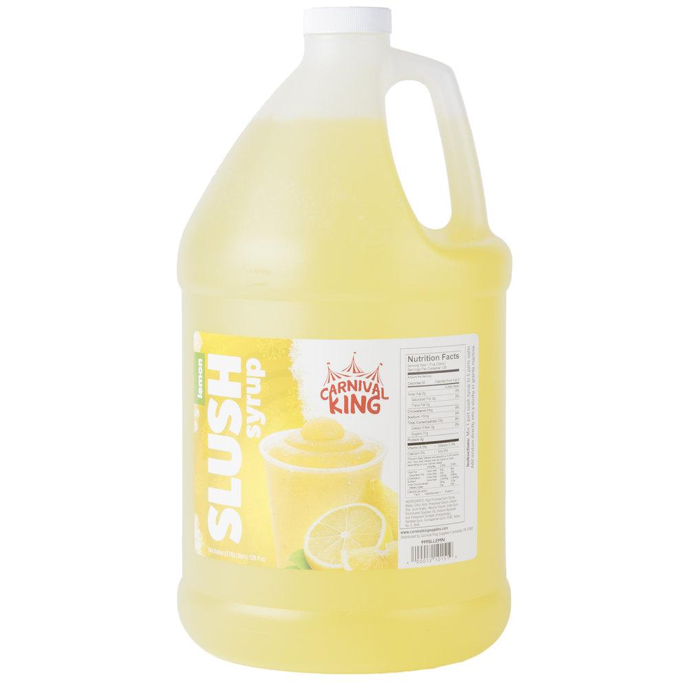 Carnival King 1 Gallon Lemon Slushy 5:1 Concentrate