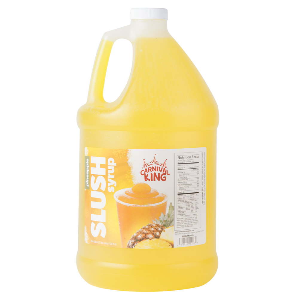 Carnival King 1 Gallon Pineapple Slushy Syrup