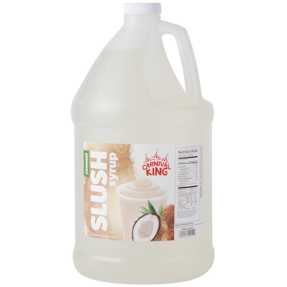 Carnival King 1 Gallon Coconut Slushy 5:1 Concentrate - 4/Case
