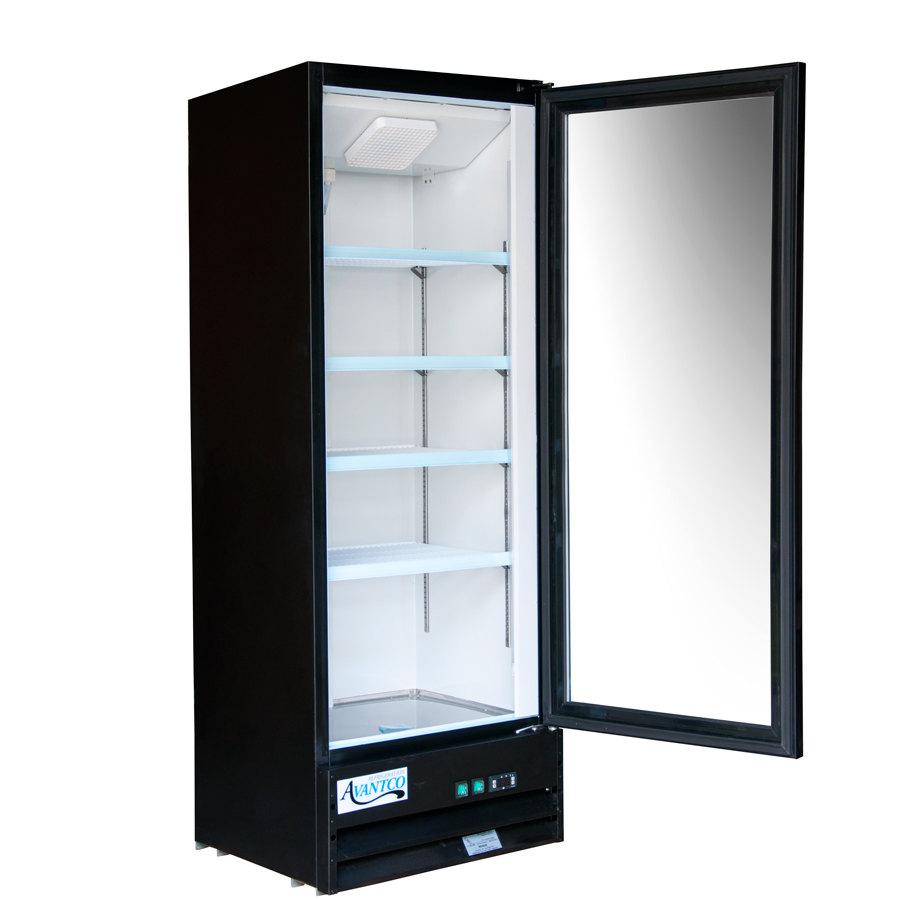 Avantco Gdc10 21 Quot Swing Glass Door Black Merchandiser