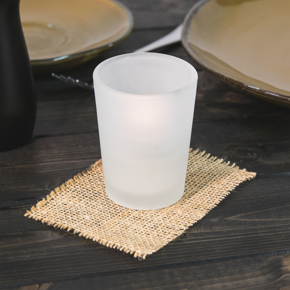 Sterno Products 80286 Petite Frosted Votive Glass