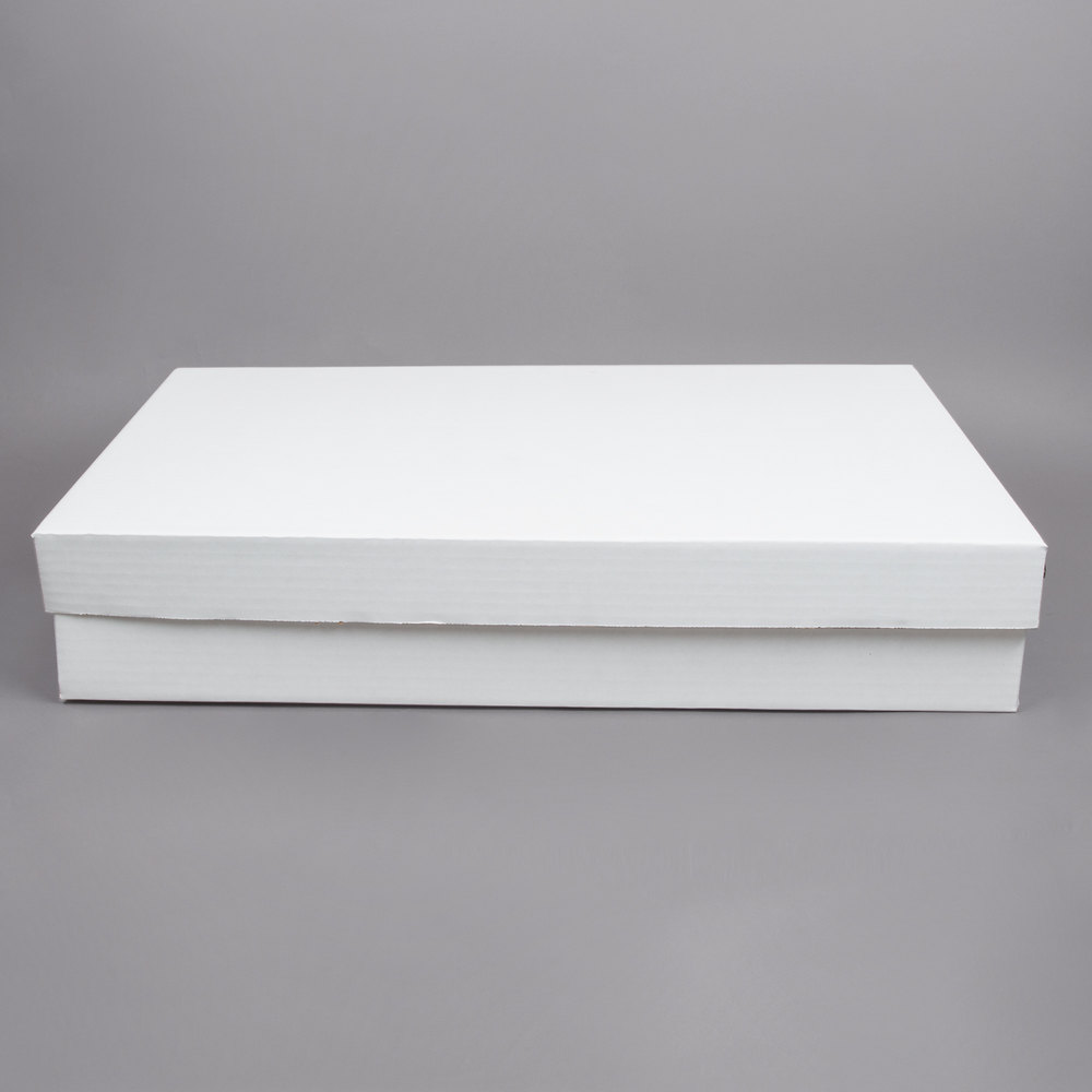 28 Quot X 18 Quot X 5 Quot White Corrugated Full Sheet Cake Bakery