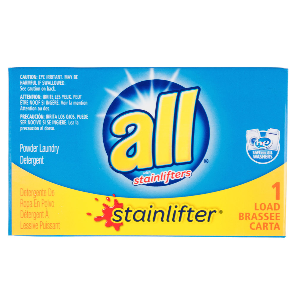 2 Oz All Stainlifter Powder Laundry Detergent Box For