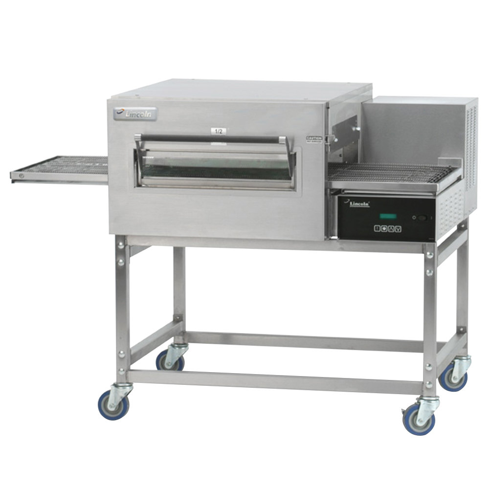 Lincoln 1180-1V Impinger II 1100 Series Ventless Single Electric Conveyor Oven Package - 208V, 10 kW, 1 Phase