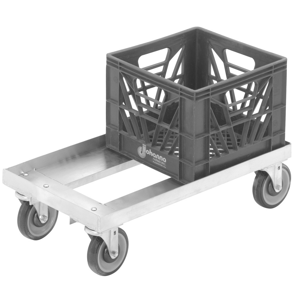 Channel Mc1326 13 Quot X 13 Quot Milk Crate Dolly 2 Stack Capacity