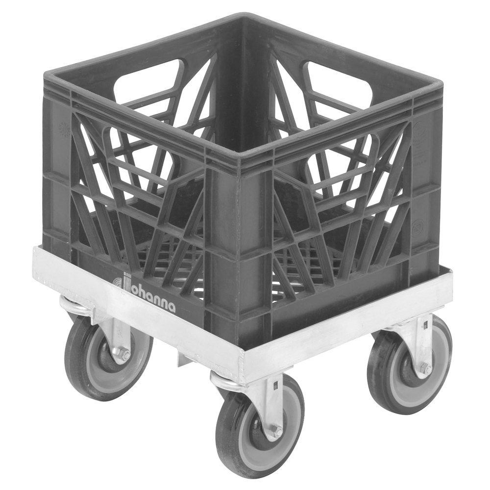"Channel MC1313 13"" x 13"" Milk Crate Dolly - 1 Stack Capacity"