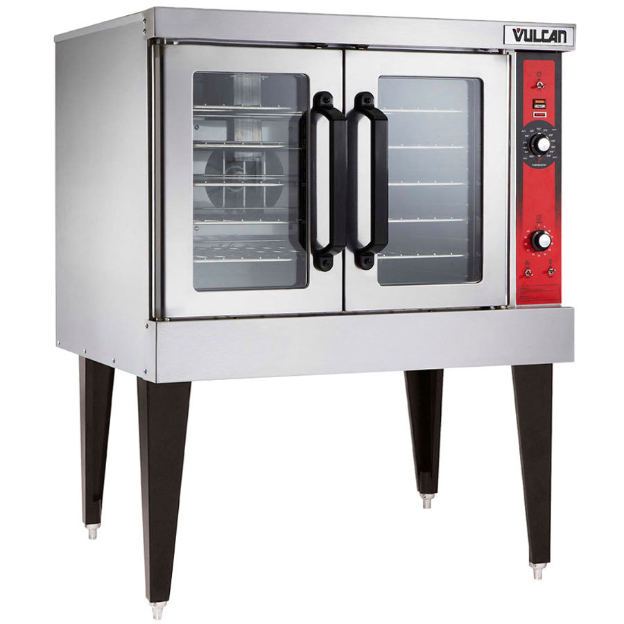 Vulcan VC6GC-NAT Natural Gas Single Deck Full Size Gas Deep Depth  Convection Oven with Computer Controls - 50,000 BTU