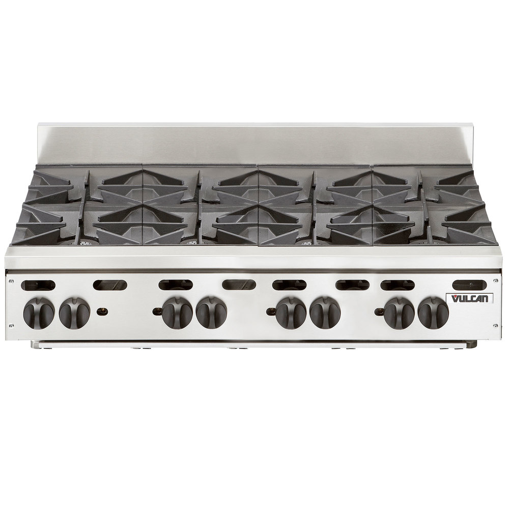 Countertop Gas Stove Price : Vulcan VHP848 Natural Gas 48