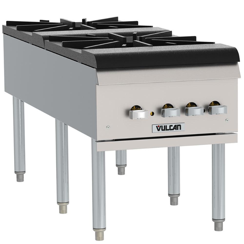 Countertop Stove Propane : ... Liquid Propane 2 Burner Countertop Stockpot Range - 220,000 BTU